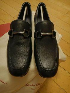 b43973d64 SALVATORE FERRAGAMO NOWELL NERO PEBBLE CALF 7 1 2 D MEN S SHOES  fashion   clothing  shoes  accessories  mensshoes  dressshoes (ebay link)