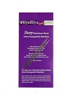 HiyaHiya 5 Inch SHARP Stainless Steel Interchangeable Knitting Needle Tip US 1  225mm * You can find out more details at the link of the image.Note:It is affiliate link to Amazon. #followforfollow