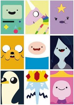 Adventure time! Call me a little kid but it's seriously in my top 3 favorite TV shows.