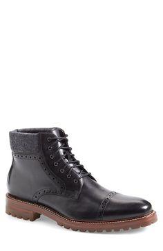 J&M 1850 'Karnes' Brogue Cap Toe Boot (Men) (Nordstrom Exclusive) available at #Nordstrom