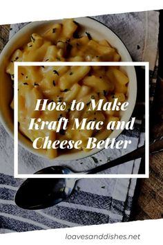 Tangy, cheesy, hot and comforting is everything that warm bowl of goodness should be but sometimes we need a little more kapow in the dish. I'll show you how to make your Kraft mac and cheese better! Kraft Mac And Cheese Recipe, Boxed Mac And Cheese, Making Mac And Cheese, Fast Dinners, Cheap Dinners, Best Comfort Food, Comfort Foods, Cooking Recipes, Budget Recipes