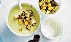 Donna Hay: Roasted cauliflower and chickpea soup  | Daily Mail Online