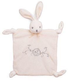 "Kaloo Perle CREAM Doudou Rabbit Comforter 8""/20cm plush baby safe gift NEW…"
