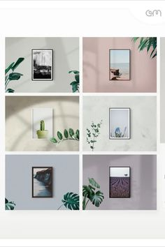 Multiple frame mockup options (6 frames / 2 mounts) which are editable/scalable. Add as many frames as you like to the layout to create your wall gallery. Choice of 12 modern shadow overlays, for added depth and realism. 6 wall textures and 7 muted colors to match any style of artwork. 7 beautiful indoor plant overlay options to help your art stand out. Extensive, clear instructions are included to get the best from the mockup. Art Design, Layout Design, Graphic Design, Mockup Creator, Websites Like Etsy, Art Stand, Design Typography, Branding, Illustrations