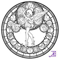 Trendy Art Therapy Coloring Pages Stained Glass 21 Ideas Cool Coloring Pages, Disney Coloring Pages, Coloring Books, Mandala Disney, Tinkerbell, Disney Fairies, Disney Stained Glass, Ink Doodles, Kids Canvas Art