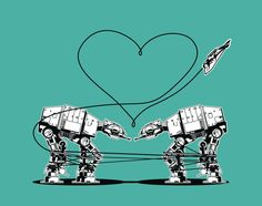 8-Pack Sticker: AT-AT Love. $15.00, via Etsy.