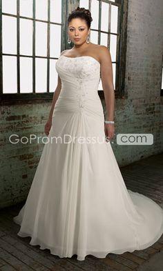 plus size wedding dress. Simply glamorous and beautiful.
