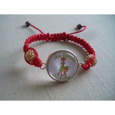 Bracelet personnalisé, fil rouge perles jaunes
