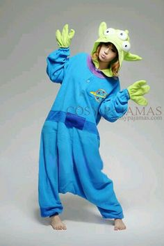 Toy story alien Three Eyed Monster Adult Kigurumi little green man Onesie 2adf317ce