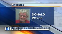 LEHIGH ACRES, Fla. -- Newlywed drama! Deputies say a 76-year-old new groom told them he shot his new bride in the buttocks.