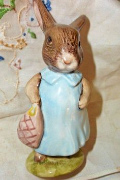 Beswick Beatrix Potter Mrs Flopsy Bunny Figurine excellent Easter Gift #Beswick