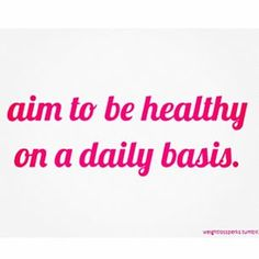 Name one thing you did to be healthier today! #healthyliving #inspiration