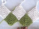 """Piece by Piece - Chal de punto DROPS con cuadrados Dominó, en """"Fabel"""". - Free pattern by DROPS Design"""