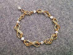 Infinity bracelet - How to make wire jewelery 202 - YouTube