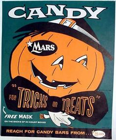 Mars candy halloween ad  c. 1957