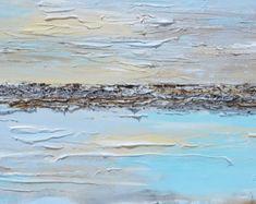 GICLEE PRINTS Kunst abstrakte Malerei moderne blau Canvas