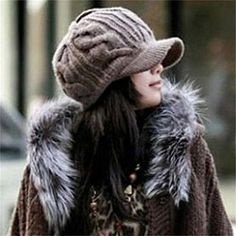 Dog Sugar Skull Skeleton Hat for Men and Women Winter Warm Hats Knit Slouchy Thick Skull Cap Black