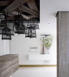 Bird cage light fixtures