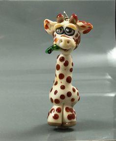 Lampwork-Sculpture-Geoffrey the Giraffe by SerenityHotGlass on Etsy