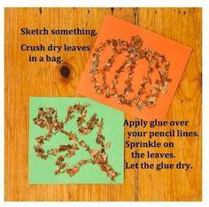 Leaves as glitter