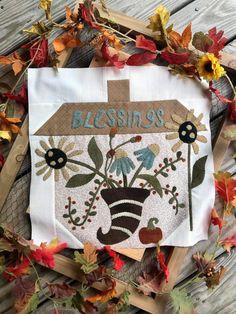 Woolen Oak Mystery - Block 6 Kit | Linen Closet Designs Pattern Blocks, Quilt Patterns, Block Patterns, Applique Designs, Applique Ideas, Closet Designs, Wool Applique, Quilt Blocks, Quilting Patterns
