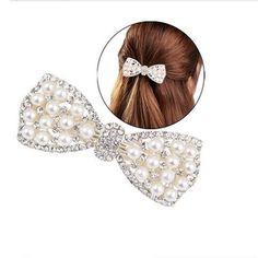 Venta caliente Moda Mujeres Niñas Crystal Rhinestone Bow Belleza Pinza de Pelo Horquilla Barrette Adornos de la Cabeza Accesorios Para el Cabello