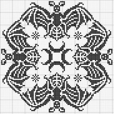 Bat biscornu - finally the pattern! Have seen this done a fair bit, now I can do it myself!