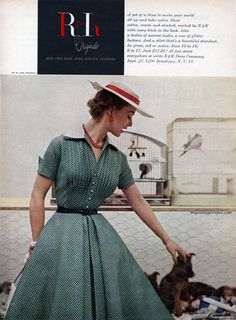 Summertime style from R & K Originals, 1954. #vintage #1950s #fashion #dresses