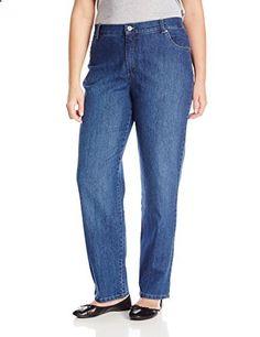 Gloria Vanderbilt Women's Plus-Size Amanda Tapered Leg Jean, Phoenix, 18W  Go to the website to read more description.