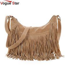 Vogue Star women messenger bags handbags  famous brands fringe tassel bag female bolsas  fashion cross body bag YB40-397