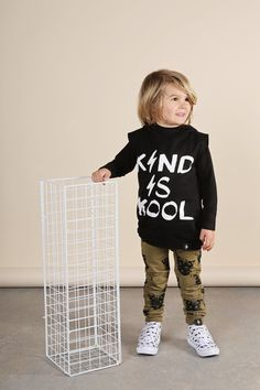 Kapow Kids Kind Is Kool Sleeveless Hooded Vest online at A Little Bit of Cheek