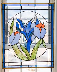 Iris  Judy Miller pattern Iris, Stained Glass, Disney Characters, Fictional Characters, Pattern, Crafts, Manualidades, Irises, Stained Glass Windows