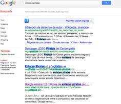 Google modifica su algoritmo de su motor de búsqueda para luchar contra la piratería