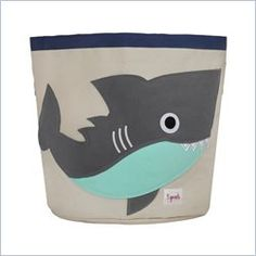 3 Sprouts Shark Storage Bin in Gray