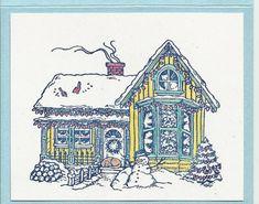 Christmas House-Choice of Card or Post Card by inkieannie on Etsy