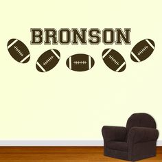 Football Wall Decal Personalized Name - $30