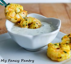 Indian Spiced Shrimp with Garlic and Cilantro Yogurt Sauce, shrimp appetizers, healthy shrimp recipes, high protein low carb recipes