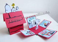 Toque Personalizado - Convite Box - Snoopy
