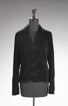 Black velvet fitted jacket designed by Jax owned by Marilyn. From the personal property of Marilyn Monroe.