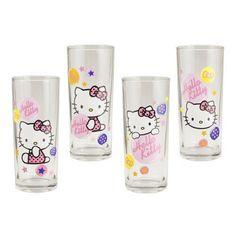 Hello Kitty Assorted 10 oz Glass