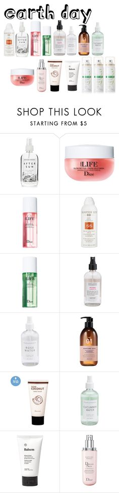 """""""Earth day:beauty products"""" by rowanstella-1 ❤ liked on Polyvore featuring beauty, Herbivore, Christian Dior, Hampton Sun, Balsem and Klorane"""