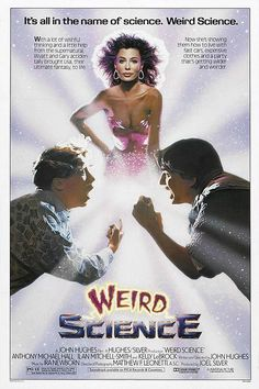WEIRD SCIENCE: Directed by John Hughes. With Anthony Michael Hall, Ilan Mitchell-Smith, Kelly LeBrock, Bill Paxton. Two high school nerds attempt to create the perfect woman, but she turns out to be more than that. Classic 80s Movies, Old Movies, Great Movies, Excellent Movies, Weird Science Movie, Science Movies, Kid Science, Science Party, Preschool Science