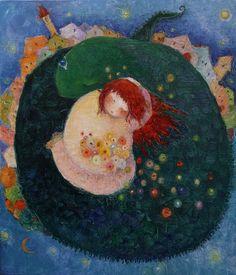 Cezara Kolesnik(born in Moldova, lives in France) Art Plastique, Ethnic Recipes, Painting, Moldova, France, Illustrations, Art, Painting Art, Paintings