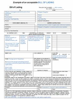 Bill Of Lading Forms Templates In Word And Pdf  Download Free