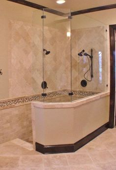 Ideas for your new Bathroom. ~walk in shower