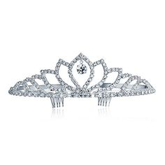 Bling Jewelry Crystal Drop Crown Bridal Tiara Silver Plated >>> You can find out more details at the link of the image.(This is an Amazon affiliate link and I receive a commission for the sales)
