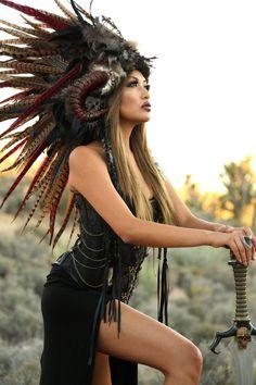 Mohawk coiffure/MADE-TO-pré-commande-plume / par WigsofWonder