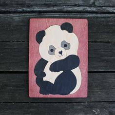 Panda Wooden Puzzle -  13 piece puzzle for ages 3-4. Durable, non-toxic, sustainable gift idea