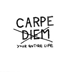 Seize this day  and the next and the next and the next  Until you make a life of seizures - well... you know what I mean!  PS thanks to @stephsdrift - some of the coolest little scribblings around  by empwrco