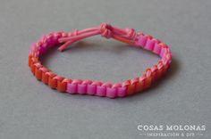 DIY Pyssla friendship bracelet by Cosas Molonas